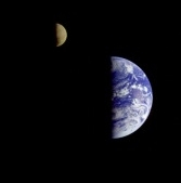 NASA – Earth and Moon as seen from the departing               Voyager interplanetary spacecraft